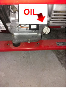 Starting Your Generator - Oil Intake